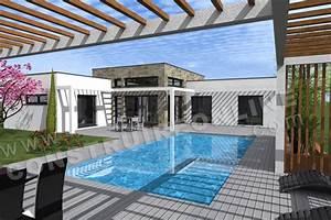 plan de maison contemporaine equation With ordinary plan 3d maison gratuit 14 maison bioclimatique top maison