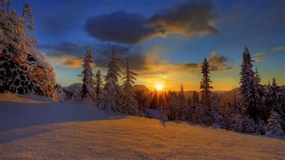 Winter Night Finland Evening Polar Desktop Wallpapers