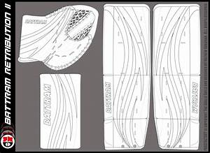 pads glove templates the goalie archive With bauer goalie mask template