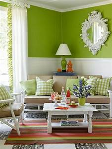 Wohnzimmer Ideen Grün : 100 interieur ideen mit grellen wandfarben ~ Lizthompson.info Haus und Dekorationen