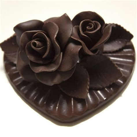 chocolate roses chocolate heart with chocolate roses dessert is perfect as a valentine s day treat or as a