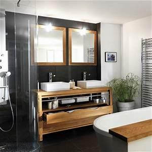 meubles colonie salle de bains lapeyre With meuble salle de bain teck lapeyre