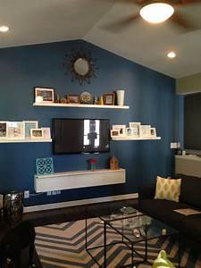 built in tv area wall decor living room living