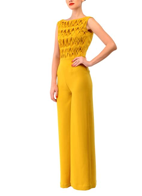 designer jumpsuits rombo textured jumpsuit swatee singh shop indian