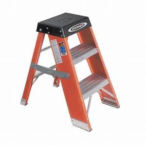 Shop Werner 3-ft Fiberglass Step Ladder at Lowes com