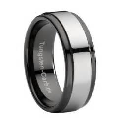 mens green wedding band black tungsten wedding ring