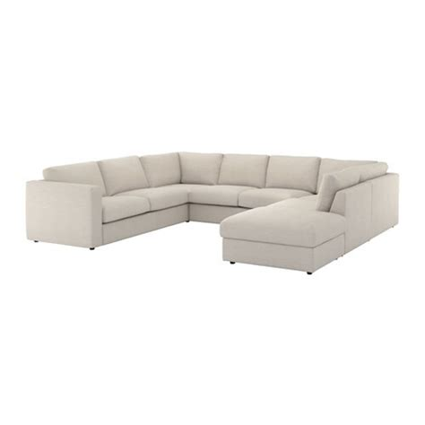 vimle sectional  seat  open endgunnared beige ikea