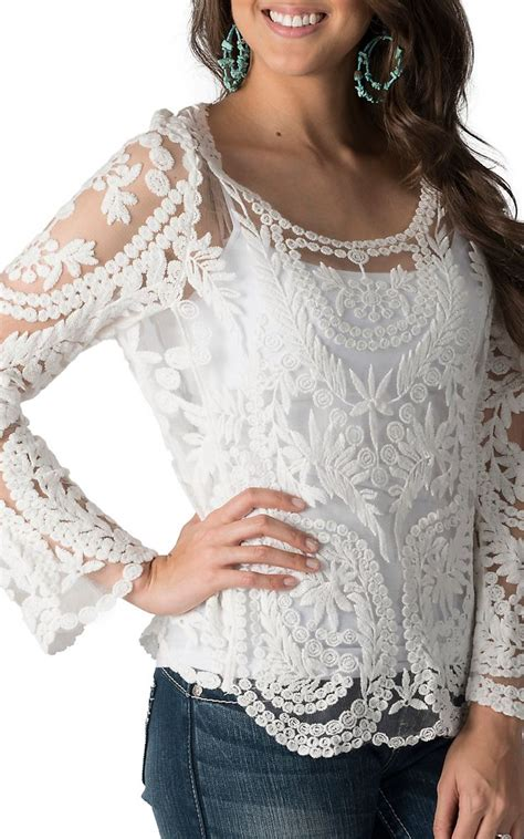 womens lace tops blouses s white lace blouse clothing