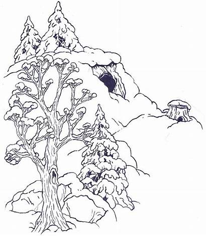 Coloring Mitten Jan Brett Popular Hill