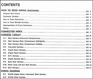 1989 Nissan 240sx Wiring Diagram Manual Original