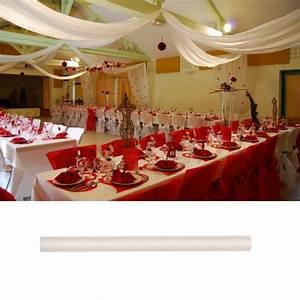 Tenture Mariage Pas Cher : tenture mariage en tulle ivoire 80cm decoration mariage badaboum ~ Nature-et-papiers.com Idées de Décoration