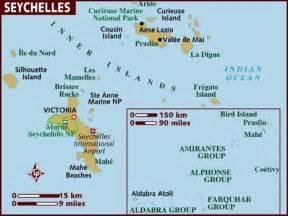 Map of Seychelles Seychelles