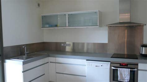 cuisine avec credence inox credence mural cuisine meilleures images d inspiration pour votre design de maison