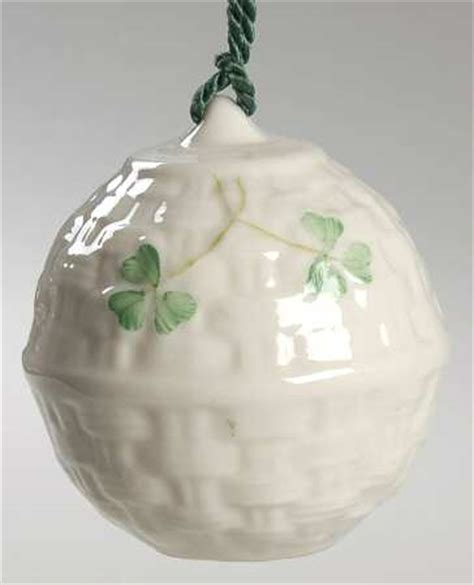 belleek pottery ireland belleek christmas ornament at