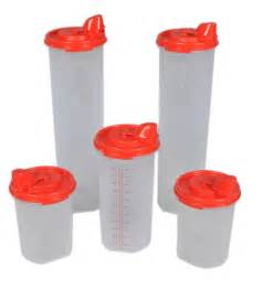 Plastic Kitchen Canisters Buy Tupperware Magic Easy Flow Plastic Dispenser With Lid Set Of 5
