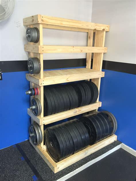 diy custom garage gym weights rack munson mischief