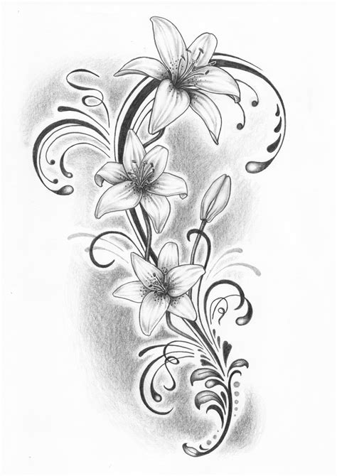 lilje tatovering - Google-søgning   Lilje tatovering