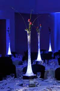 Vase Centerpieces with LED Lights