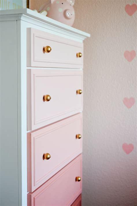 Black Dresser Pink Drawers diy ombre dresser tutorial project nursery