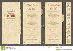 Vintage Vector Restaurant Menu Template Stock Vector ...