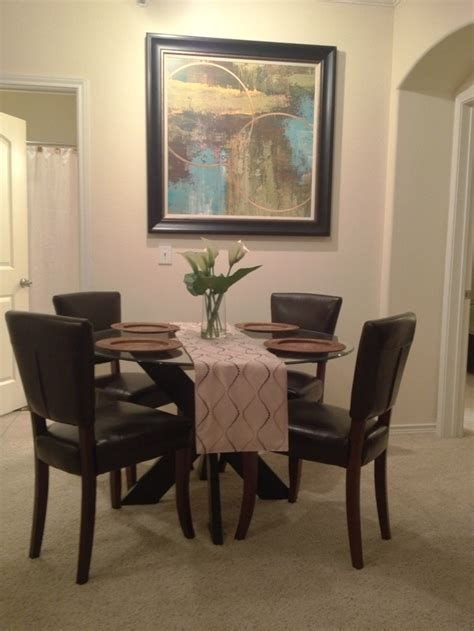 simon x dining table base espresso i love my new round glass top dining table pier 1 simon x