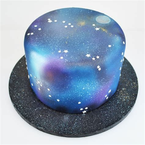 airbrushed galaxy cake   guide  craft company