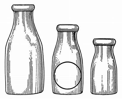Clip Bottle Milk Illustrations Bottles Drawing Graphics