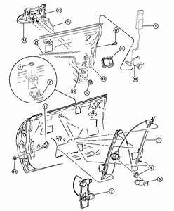 Dodge Neon Regulator  Front Door Window  Right  Manual