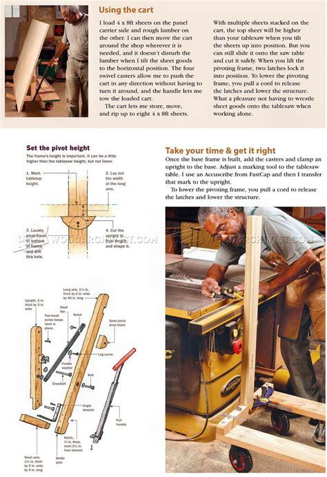pivoting plywood cart plans woodarchivist