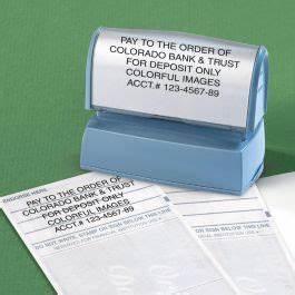 deposit address stamper current catalog With current address stamp