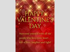 Laughter and Light Shining Happy Valentine's Day Card