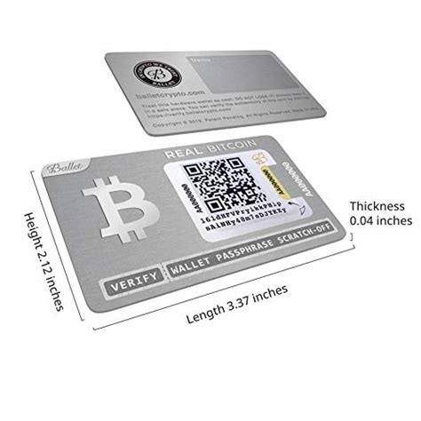 A hardware wallet is a physical device that is specifically built to store private keys of cryptocurrencies. Ballet REAL Bitcoin - Physical Cryptocurrency Wallet with Multicurrency Support, Stainless Steel ...