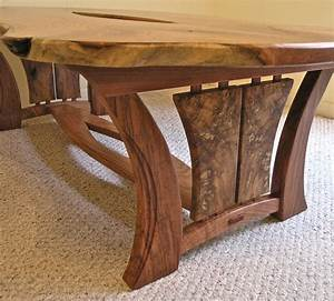 Live Edge Mesquite Coffee Table Louis Fry / A Furniture