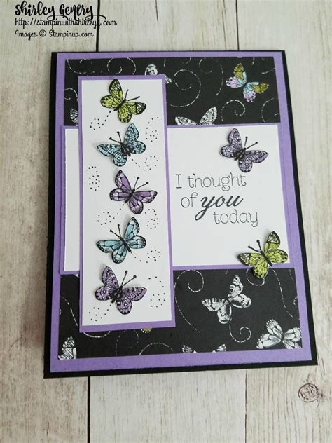 Climbing Roses with Botanical Butterfly DSP Stampin with