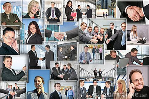 business pictures collage royalty  stock