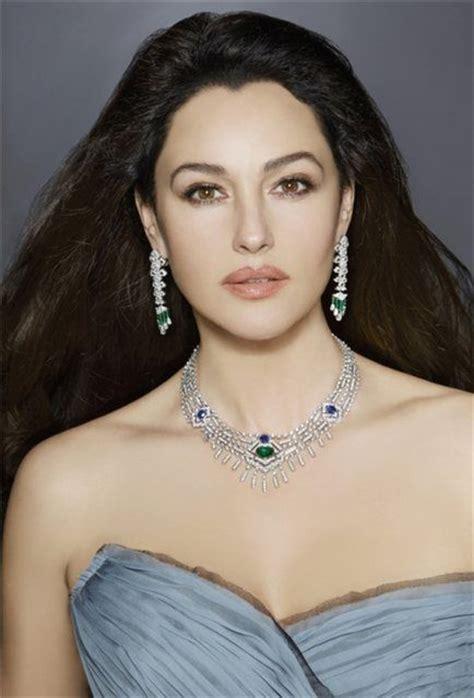 monica bellucci poses  cartier jewelry fab fashion fix