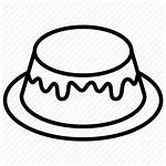Icon Dessert Pudding Caramel Custard Bakery Icons