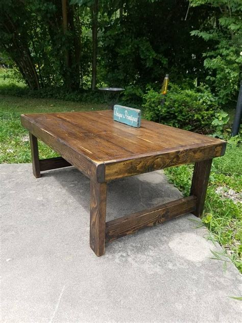 Since it's reclaimed wood, it is not a smooth surface. RUSTIC COFFEE TABLE Reclaimed Wood Dark Walnut Farm House Farmhouse Country Cabin Living Large ...