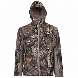 Guide Series Men U2019s Camo Rain Jacket  Mossy Oak Break