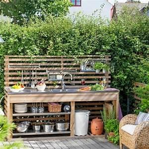 Evier D Exterieur Pour Jardin : 1001 id es d 39 am nagement d 39 une cuisine d 39 t ext rieure ~ Premium-room.com Idées de Décoration