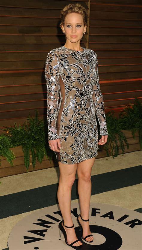 Jennifer Lawrence in Tom Ford Mini Dress - 2014 Vanity ...