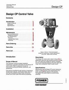 Cp Valve Instruction Manual By Rmc Process Controls