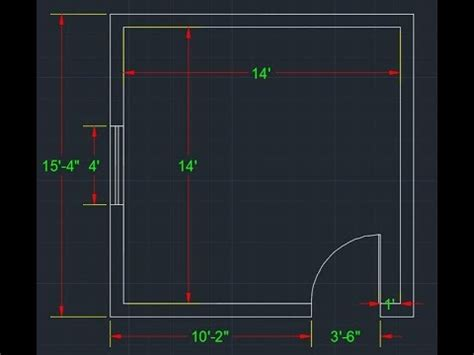 Draw Simple  Room Plan  Autocad Youtube