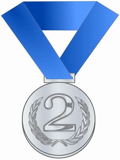 Clipart Place Medal Silver Template Second Printable