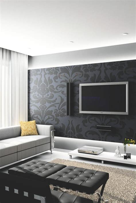 Modern Living Room Decorating Ideas by I Like The Accent Wall And The Floating Wall With Lighting