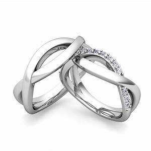 Matching Wedding Bands Diamond Infinity Wedding Ring In