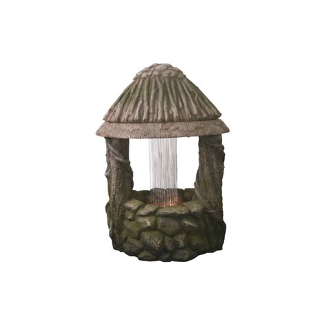 strobe light water fountain wishing well water feature led 71 cm