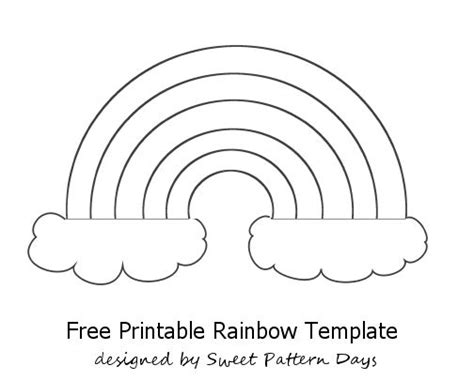 rainbow template printable template pinterest sprays  kids  paint stencils