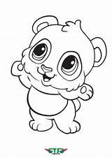 Coloring Panda Toddler Llama Creative Tsgos Animal sketch template