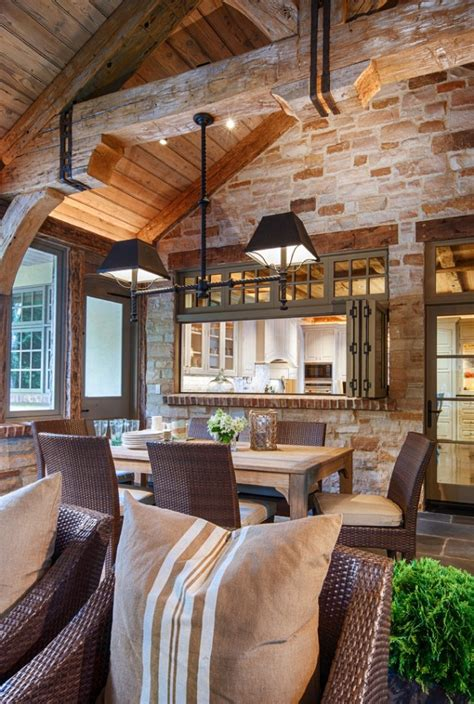 elegant rustic dining room interior designs